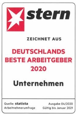 """2020 – STERN-Auszeichnung """"Deutschlands beste Arbeitgeber"""""""