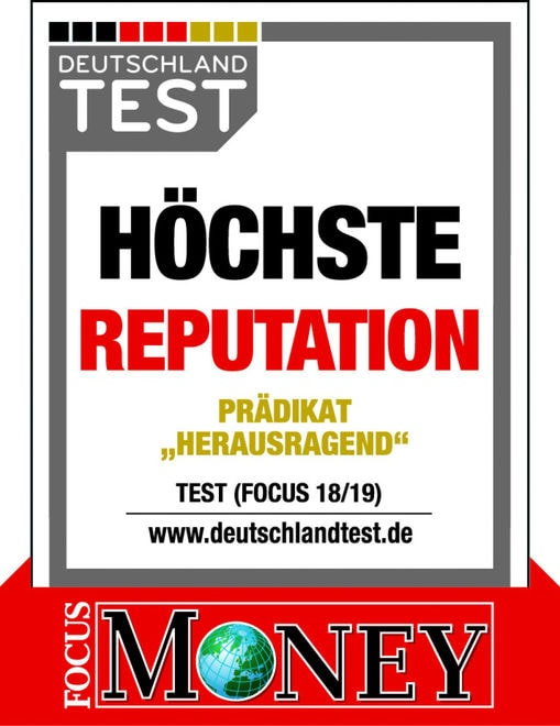 """2019 – Focus Magazin zeichnet Heiligenfeld Kliniken mit """"Höchste Reputation"""" aus"""