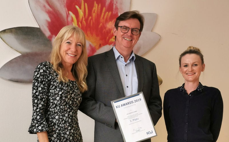 """2019 – Onlinemarketing der Heiligenfeld Kliniken mit """"KU Award"""" ausgezeichnet"""