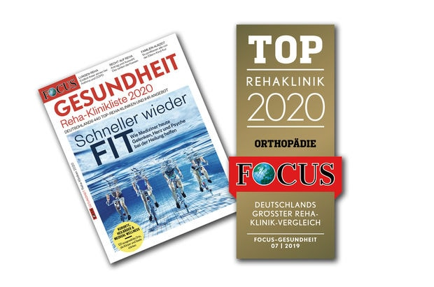 """2019 – Focus """"Top-Rehakliniken"""": Heiligenfeld wieder unter den Top-Rehakliniken Deutschlands"""