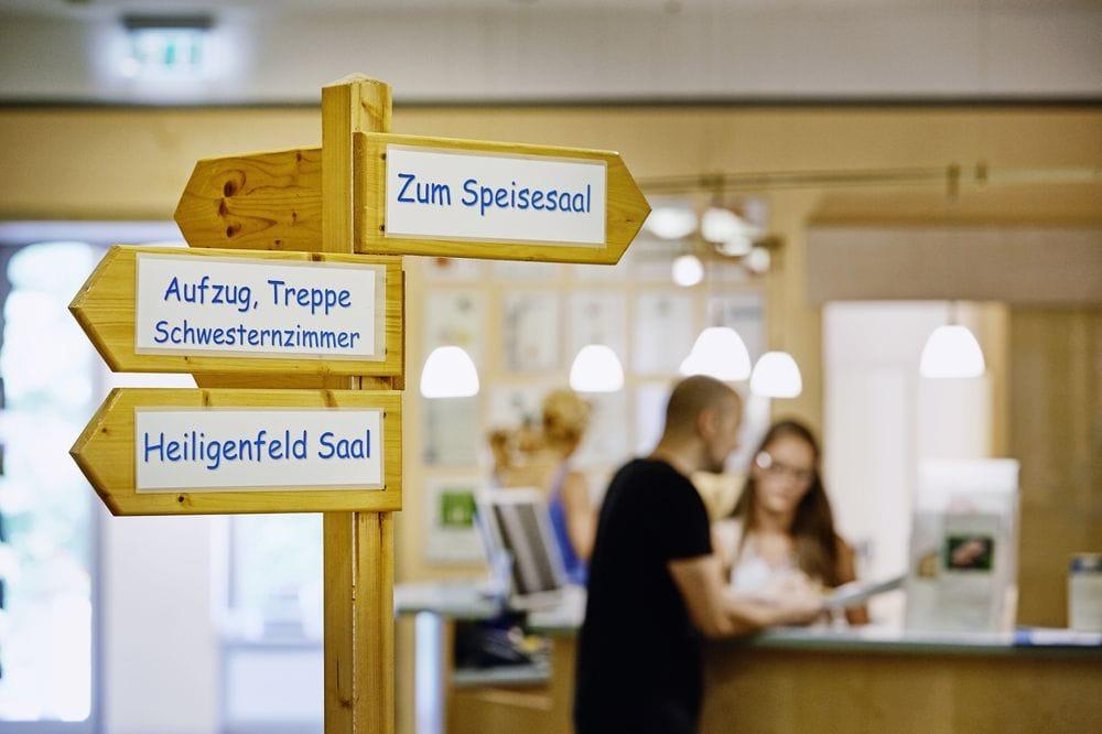 Empfang Parkklinik Heiligenfeld