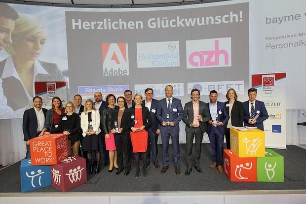 """2017 – Heiligenfeld auch bei """"Bayerns Beste Arbeitgeber"""" top"""