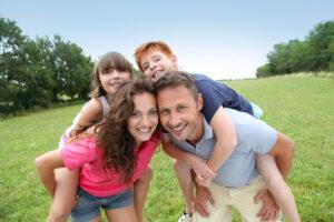 Family portrait on summer holidays