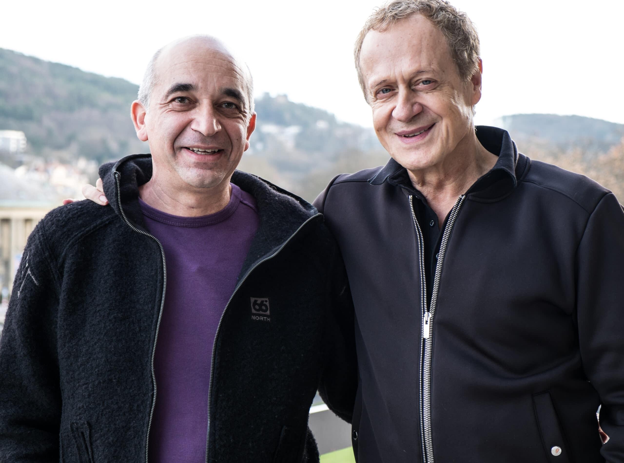 Frank Rihm und Reinhard Flatischler