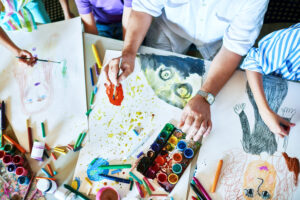 hq childrens paintings art class