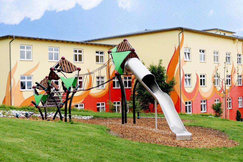 Spielplatz auf dem Klinikgelände