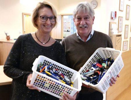Jana Grund-Wende (Patientenmanagement Luitpoldklinik Heiligenfeld) und Toni Hauck. Foto: Kai Fraass